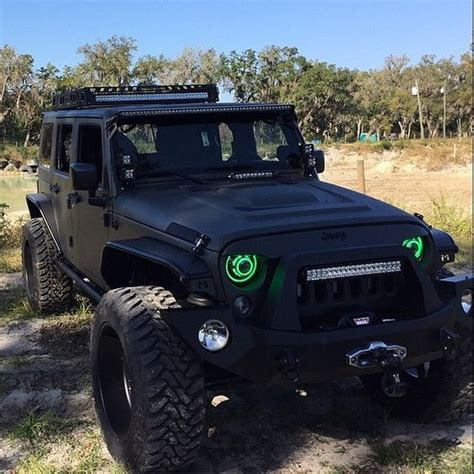 jeep truck black black jeep green lights jc jeep trucks