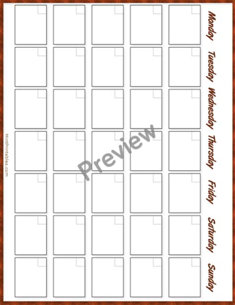 simple monthly calendar template printable simple monthly calendar template