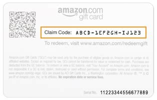 amazon com help redeem a gift card - Amazon Gift Card Claim Codes