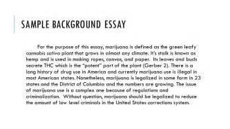 Personal Background Exle Essay pro argument essay ppt