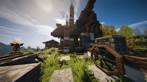awesome Tips For Building A House #5: Riverbend-Medieval-House-minecraft-cottage-build-ideas-download-save-terrain-11.jpg