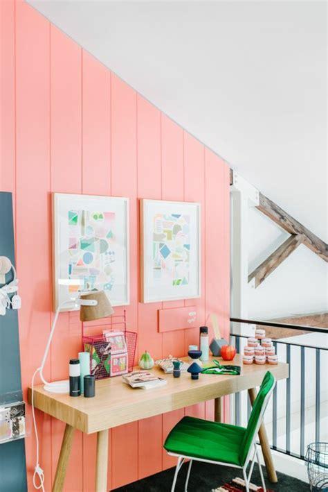 couleur mur bureau maison 1001 id 233 es de d 233 coration avec la couleur corail les