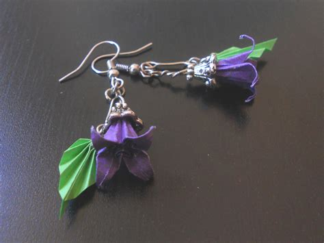 How To Make Earrings From Paper - origami earrings by sakuralu83 on deviantart
