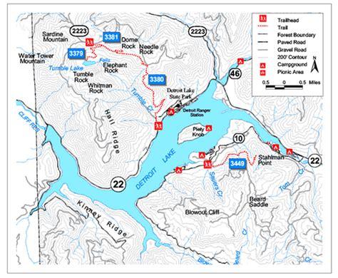 map of oregon lakes detroit lake oregon lake map for the of oregon