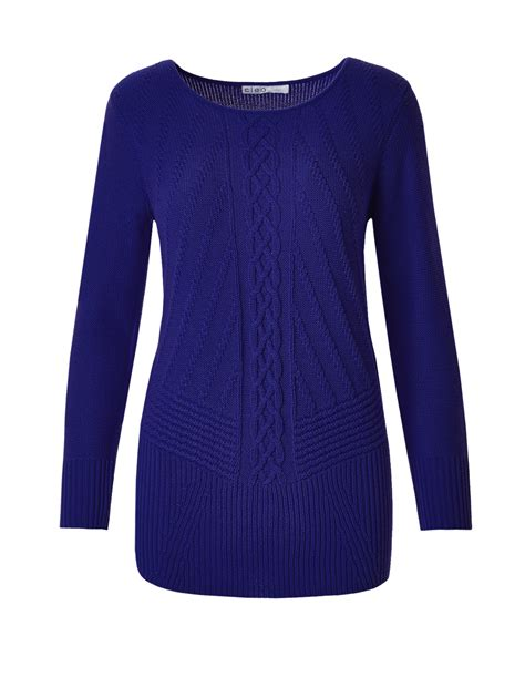 blue knit sweater royal blue cable knit sweater cleo