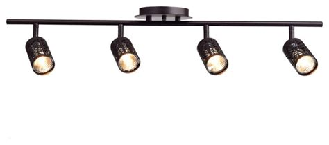 4 Bulb Ceiling Light Fixture Claxy Vintage Rubbed Bronze Metal Track Lighting Ceiling Light Fixture 4 Lights Reviews