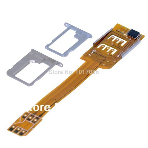 how to make a sim card adapter mobile phone dual sim card adapter for iphone 4 4s 5 5s 5c