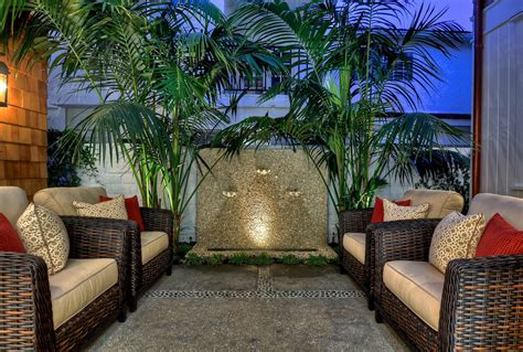 Tropical Patio Decor by Remarkable Outdoor Wall Decorating Ideas Gallery