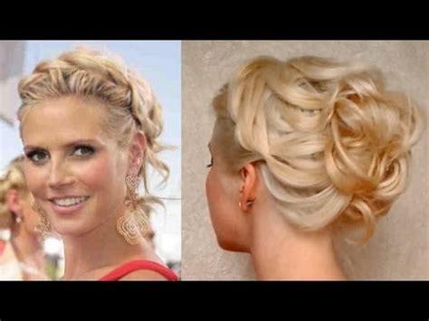 prom hairstyle for medium long hair curly updo heidi klum