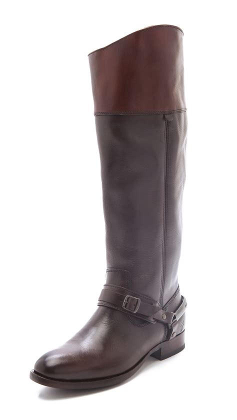frye boots for frye lindsay spur boots in brown lyst