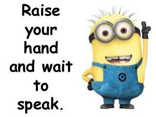 imagenes de ingles raise your hand the minions present our classroom rules ingl 234 s ideias