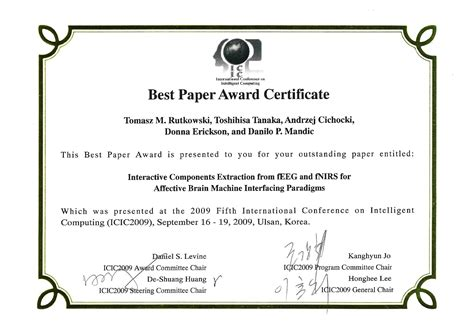 Best Paper Award Certi?cate Free Download