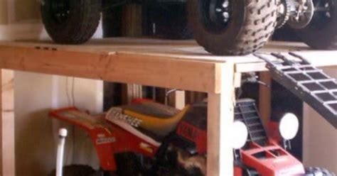 atv storage shelf garage organization pinterest