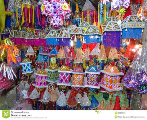 diwali decorating at home raw ayurveda diwali lantern shop royalty free stock image image 35693396