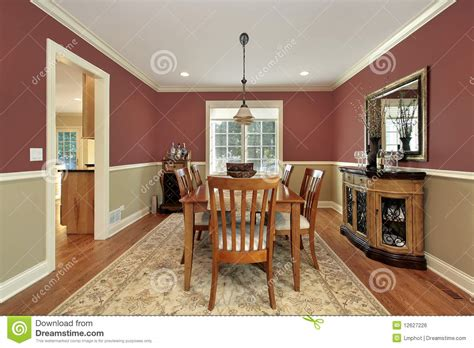 Two Tone Dining Room Walls by Dining Room With Two Toned Walls Royalty Free Stock Image