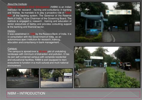 bank coaching in pune national institute of bank management nibm pune