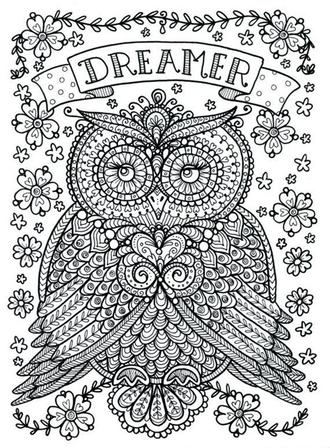 coloring pages for adults owls free coloring pages of number 1 with owl