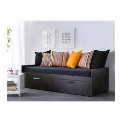 Brimnes Daybed Brimnes Day Bed Frame With 2 Drawers Black 80x200 Cm Ikea