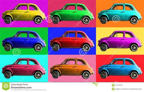 colorful cars vintage car collage colorful italian industry on