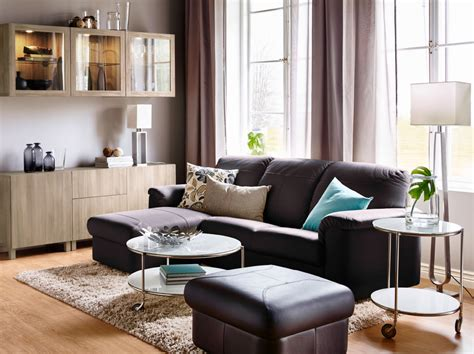 ikea living room gallery lean in to leather for a way to unwind ikea