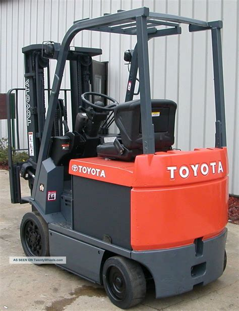 Toyota Electric Forklift Toyota Model 7fbcu20 2008 4000lbs Capacity Electric Forklift