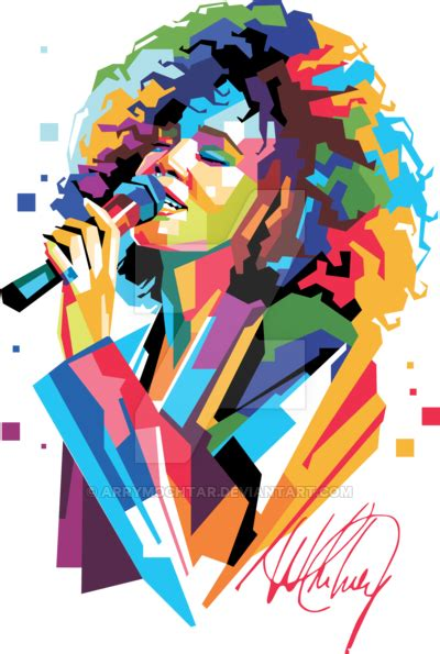 tutorial wpap sketchbook whitney houston in popart portrait wpap design by