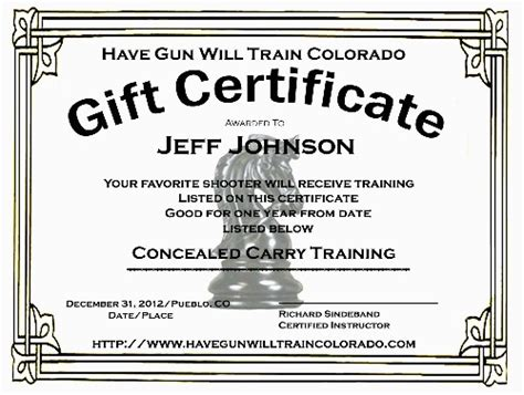 nra certificate template concealed carry certificate template the hakkinen