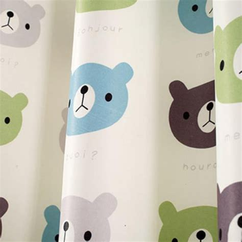 animal print blackout baby infant room curtains children baby blue animal print polyester insulated short bay