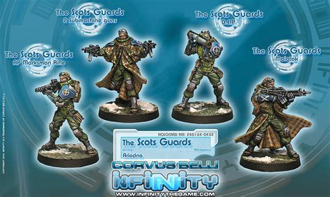 ariadna infinity unboxing infinity ariadna scots guards