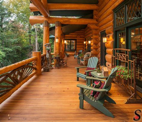 log cabin lets make this house into a home pinterest log home porch by sitka log homes make mine rustic
