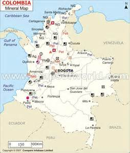 colombia mineral map of columbia south america capital