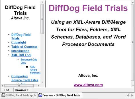 ebook xml format directory comparison archives altova blog