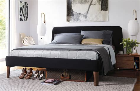 dwr bed parallel bedside table design within reach