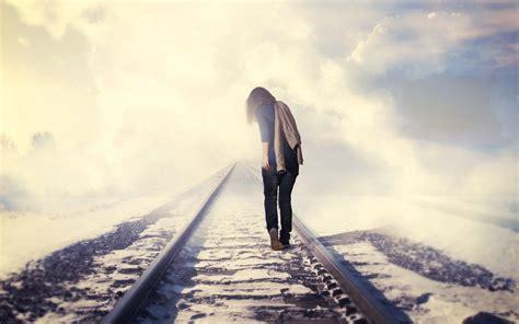 mood railroad girl rails  hd wallpaper hd wallpapers