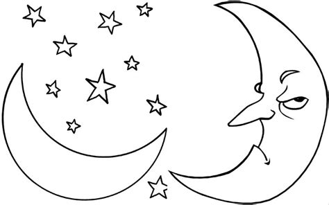 Moon Coloring Page free printable moon coloring pages for best