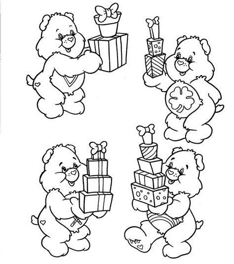 birthday bear coloring pages care bear birthday coloring pages