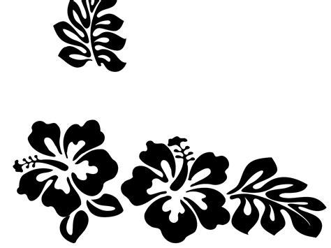 hawaiian flower clipart black and white jaxstorm