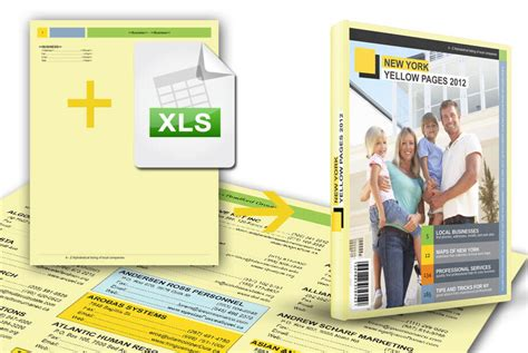 business directory layout design yellow pages data merge template