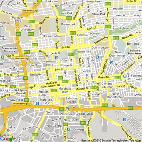 Johannesburg South Africa Map by Map Of Johannesburg South Africa Hotels Accommodation