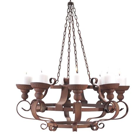 Home Decorators Collection Rusty Metal 24 In Chandelier Candle Chandelier Home Depot