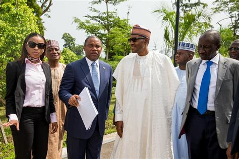 Mba Tour Lagos by President Buhari Tours The National Park And Meets With