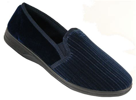 10 Slippers For The Winter new mens navy blue corded comfort quality winter comfy