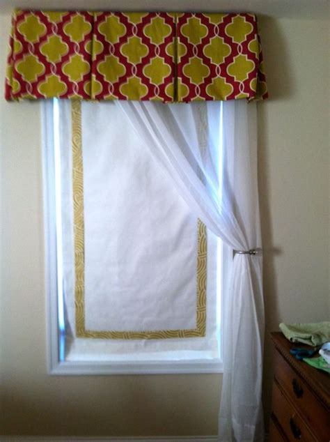 box window blinds banded shade and box pleat valance eclectic
