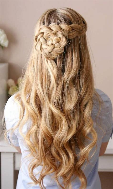 trendy long wedding prom hairstyles