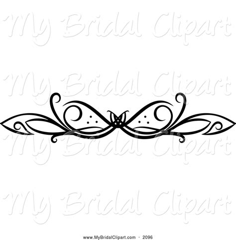 Wedding Clipart Design by Bridal Clipart Of A Black And White Swirl Design By Vector