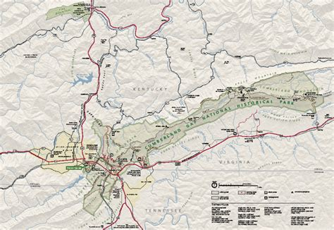 kentucky map cumberland gap cumberland gap national historical park official map