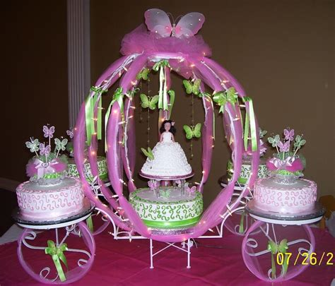 decorative quince quinceanera cake table decorations photograph quinceanera