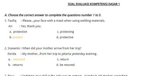 50 contoh soal un bahasa inggris smk dan pembahasan contoh soal try out un bahasa inggris dan kunci jawabanya