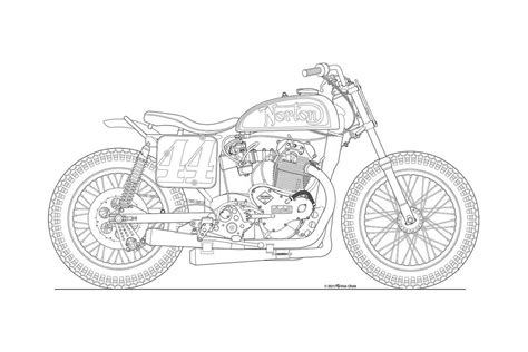 doodle draw photos some classic motorcycle line drawings
