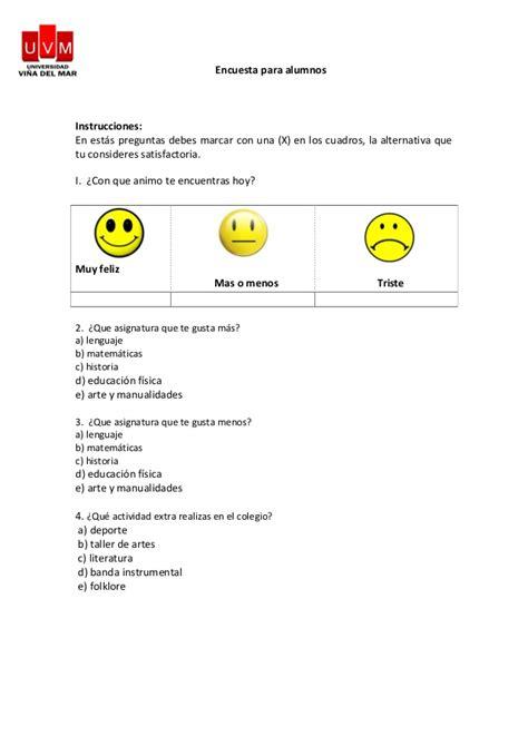 preguntas de matematicas para una encuesta encuestas convivencia escolar
